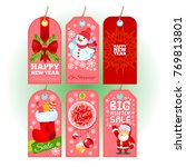 tags with christmas and new... | Shutterstock .eps vector #769813801