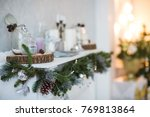 christmas decorations ... | Shutterstock . vector #769813864