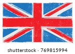grunge uk flag.british flag... | Shutterstock .eps vector #769815994