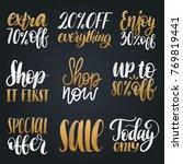 vector set of handwritten sales ... | Shutterstock .eps vector #769819441