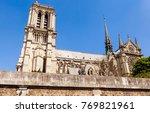 notre dame de paris catholic... | Shutterstock . vector #769821961