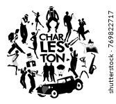 charleston dance icons. cars ... | Shutterstock .eps vector #769822717