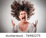 very angry woman | Shutterstock . vector #76982275