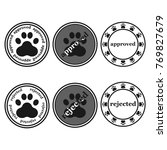 dog paw sign stamp  approved... | Shutterstock .eps vector #769827679