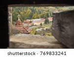 view of the old bran city... | Shutterstock . vector #769833241