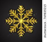 vector golden sparkling... | Shutterstock .eps vector #769835215