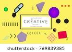 minimal universal banner...   Shutterstock .eps vector #769839385