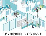 isometric flat interior of... | Shutterstock .eps vector #769840975