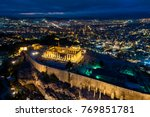 aerial view of parthenon and... | Shutterstock . vector #769851781