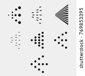 spray icons set. simple black... | Shutterstock .eps vector #769853395