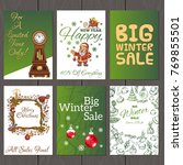 set of beautiful cards with... | Shutterstock .eps vector #769855501
