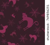 halloween vector pattern with...   Shutterstock .eps vector #769856251