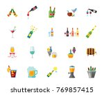 alcohol icon set | Shutterstock .eps vector #769857415