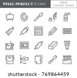 art supplies pixel perfect... | Shutterstock .eps vector #769864459