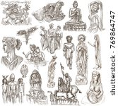 an hand drawn collection.... | Shutterstock . vector #769864747