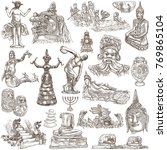 an hand drawn collection.... | Shutterstock . vector #769865104