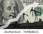 oil pumps on the background of... | Shutterstock . vector #769868611