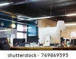 business concept. an empty... | Shutterstock . vector #769869595
