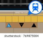 mind the gap between platform... | Shutterstock .eps vector #769875004