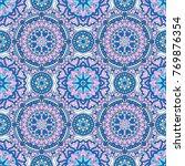 seamless oriental ornamental... | Shutterstock .eps vector #769876354