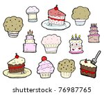 tasty cakes cartoon | Shutterstock .eps vector #76987765