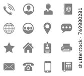 contact icons. gray flat design.... | Shutterstock .eps vector #769880281