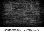 black brick background  ... | Shutterstock . vector #769893679