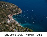 aerial view nerano village ... | Shutterstock . vector #769894081