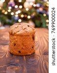 homemade panettone christmas...   Shutterstock . vector #769900024