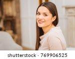 natural posing. nice beautiful... | Shutterstock . vector #769906525