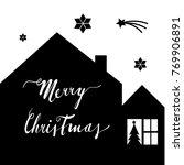 house silhouette  christmas... | Shutterstock .eps vector #769906891