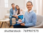 couple consultation.  happy... | Shutterstock . vector #769907575
