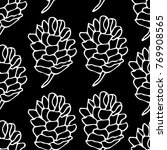 pinecone vector illustration.... | Shutterstock .eps vector #769908565