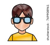 man with sunglasses profile | Shutterstock .eps vector #769908961