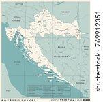 croatia map  vintage high...   Shutterstock .eps vector #769912351