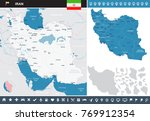 iran map and flag   high... | Shutterstock .eps vector #769912354