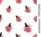 manicure vector seamless... | Shutterstock .eps vector #769912981