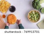 children's choice between... | Shutterstock . vector #769913701