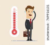 businessman  and hot... | Shutterstock .eps vector #769916131