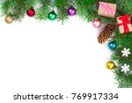 christmas background decorated...   Shutterstock . vector #769917334