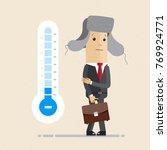 businessman froze and... | Shutterstock .eps vector #769924771