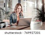 convenient device. cheerful... | Shutterstock . vector #769927201