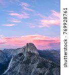 Sunset Over Half Dome In...