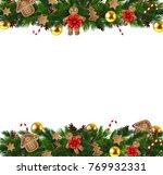 vector christmas fir decoration ... | Shutterstock .eps vector #769932331