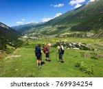 hiking in georgian mountains ... | Shutterstock . vector #769934254