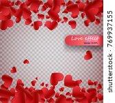 heart confetti of valentines... | Shutterstock .eps vector #769937155