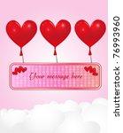 heart banner in the sky   eps 10 | Shutterstock .eps vector #76993960