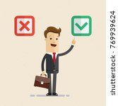 "businessman chooses ""yes""... 