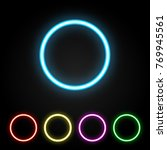 colorful neon ring. glowing... | Shutterstock .eps vector #769945561