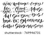 hand written set of short... | Shutterstock .eps vector #769946731